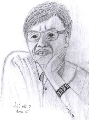 Nhà thơ Trần Vấn Lệ duyên vẽ theo yêu cầu của nguyệt mai